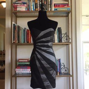 Cache black form fitting dress